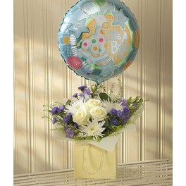 Blue Lullaby Balloon Gift Set
