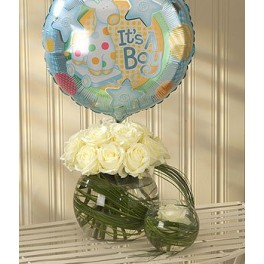 Mother and Baby Boy Balloon Gift Set