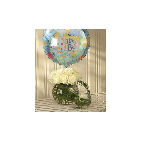 Mother And Baby Gifts Delivered Uk : Mother and baby boy balloon gift set