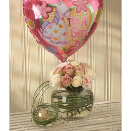 Mother and Baby Girl Balloon Gift Set