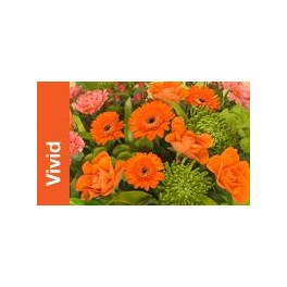 Posy in Lime and Orange