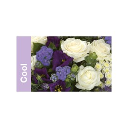 Sympathy Bouquet in Mauve, Blue and Cream