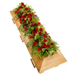 Red and Green Coffin Cover