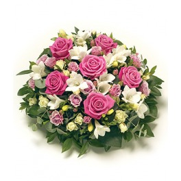Pink and White Scented Posy